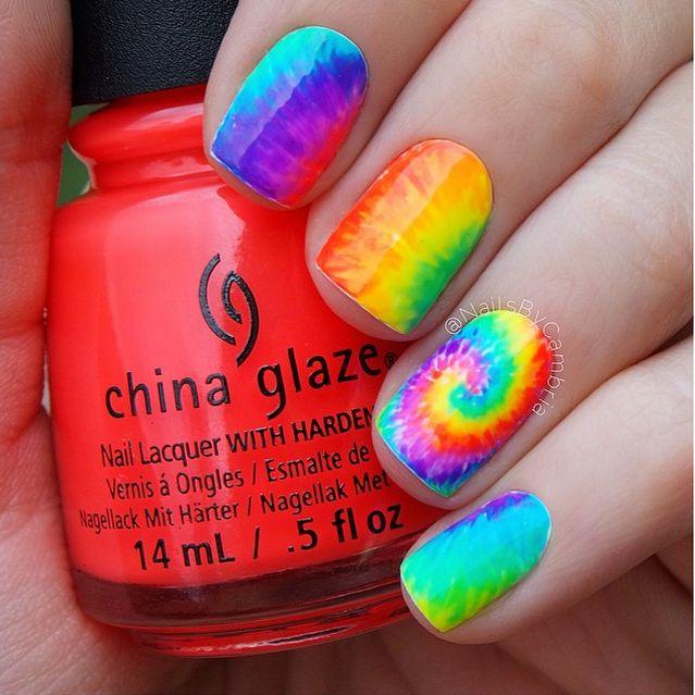 nailsbycambria-tie-dye-nail-art - Best 25+ Tie Dye Nails Ideas On Pinterest DIY Tie Dye