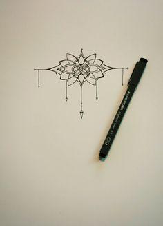 Tatuaje muñeca había inspirada en mehndi y lazos célticos flores de loto de estilo.  El diseño está pensado para envolver completamente alrededor
