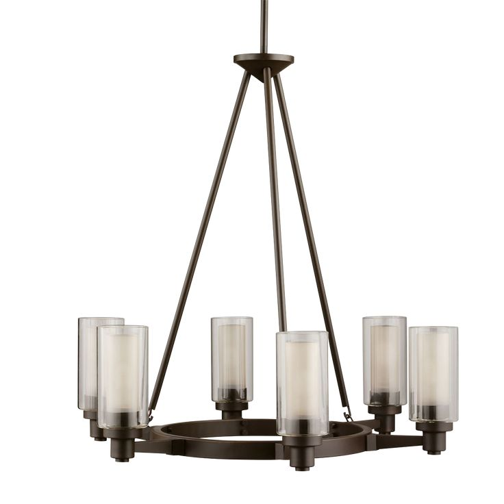 6 light Chandelier in Olde Bronze - Circolo Collection