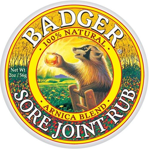 Badger Balm - Sore Joint Rub.  Used in combo with Sore Muscle Rub to help with the restless leg feeling. Really helps relax my legs.