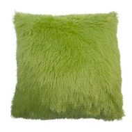 Scarlet Shaggy Fur Cushion 55x55cm