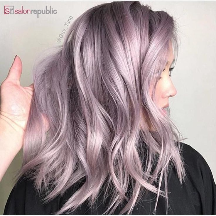 """6,424 Likes, 32 Comments - Hair Makeup Nails Beauty (@hotonbeauty) on Instagram: """"Metallic lilac pink hair painting by @guy_tang #hotonbeauty . . . . #metallicpink #metalliclilac…"""""""