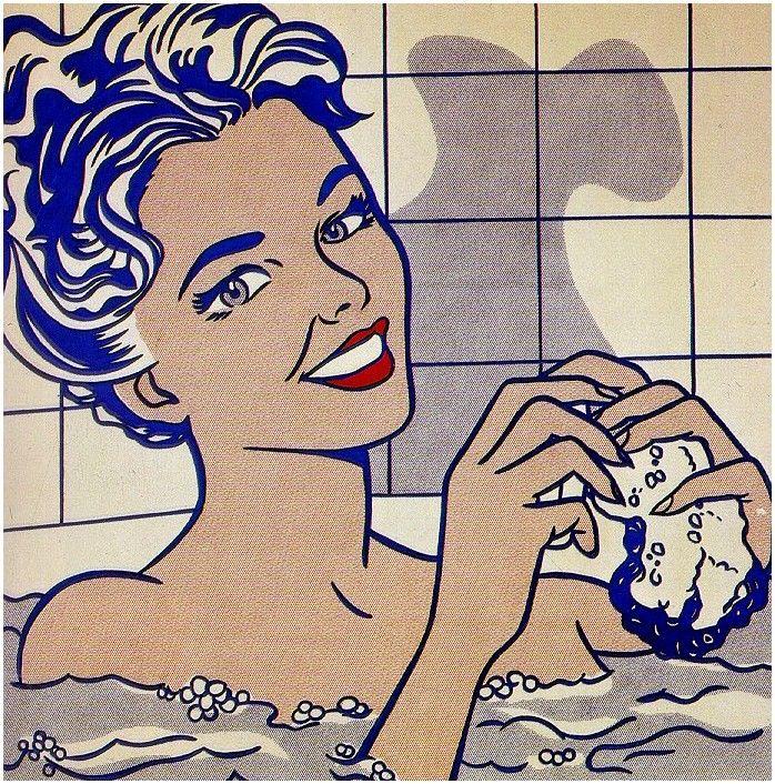 bañandose