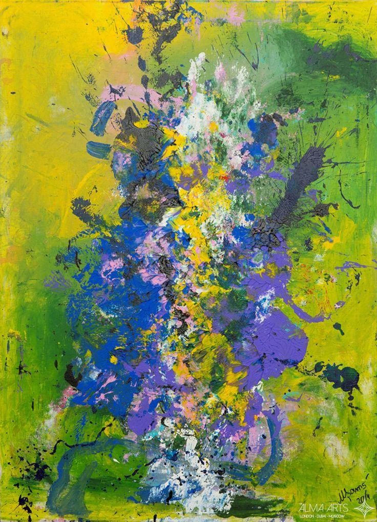 "Mehriban Shamsadinskaya - Alma Arts Agency ""Ultraviolence"", 2014. Oil on canvas 110x80cm"