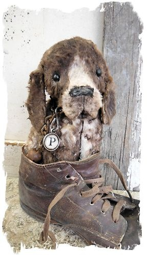 Antique Style★ Open Mouth German Shorthaired Pointer Dog Set ★ Whendi's Bears