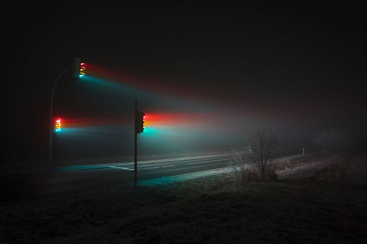 photographer lucas zimmermann has spent more than two years capturing ordinary traffic lights with a surreal and spectral twist.
