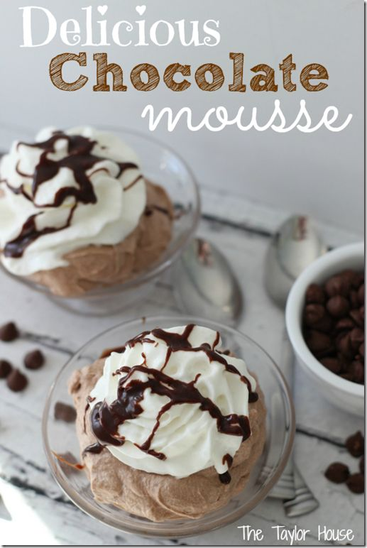 Oh my soul! This chocolate mousse recipe is divine! Quick to whip together and elegant enough to grace any dessert table!