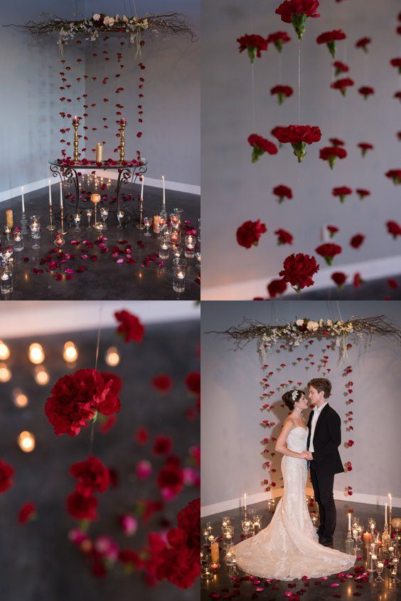Beauty and the Beast Wedding Inspiration - Hanging Flowers | A Princess Inspired Blog | Corner House Photography