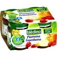 BLEDINA Petits Pots Pomme Framboise 4x130g - 3,20 € #onselz