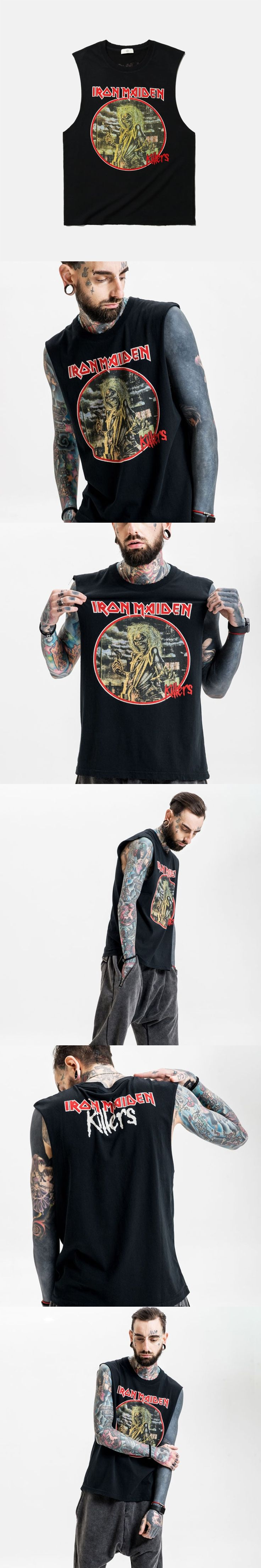 2017 New Product Iron Lady Band Wear Acid Rock Joker Vest   T