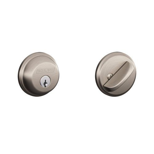 Schlage B60N619 Deadbolt, Keyed 1 Side, Satin Nickel Schlage Lock  Company,http: