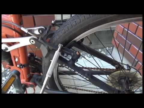 玄関先の自転車を盗難から護るキーレス スマート南京錠「パドロックマスター」事例1