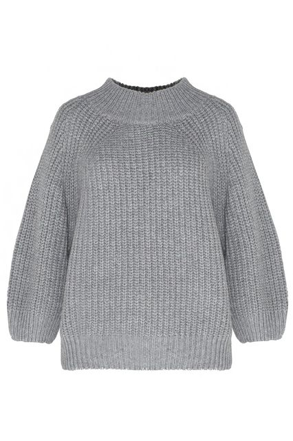 15 Dressy Items That Only Look Expensive #refinery29  http://www.refinery29.com/dressy-winter-holiday-clothes#slide-14  An essential chunky crewneck that doesn't look like it will pill with one wash.Pixie Market Grey Puffy Sleeve Sweater, $65, available at Pixie Market....