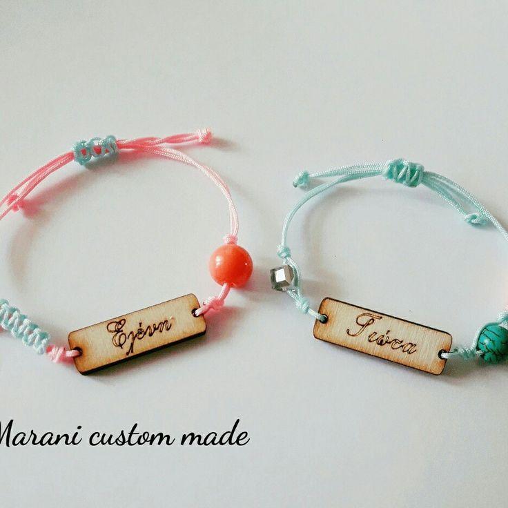 Name bracelets  www.maroulapresents.blogspot.com