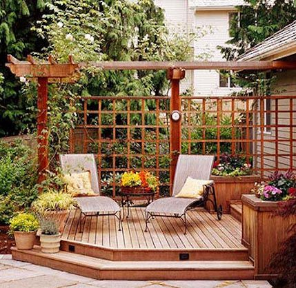 outdoor enclosures made with lattice and pavers | ... lattice pergola deck covers – Patio World | Inspiring Outdoor