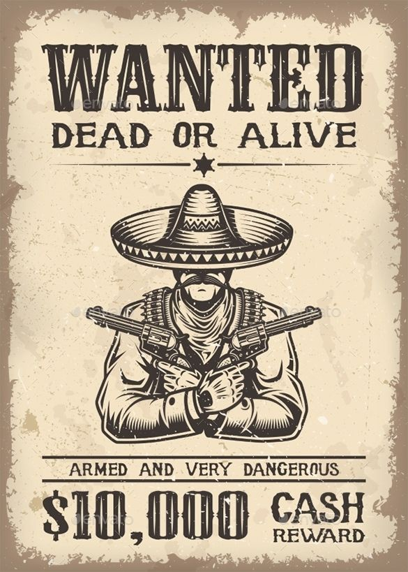 66 best wanted posters images on Pinterest American history - create a wanted poster free