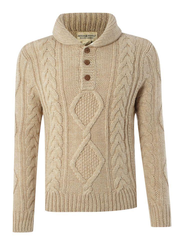 Denim and Supply Ralph Lauren Three button neck knitwear