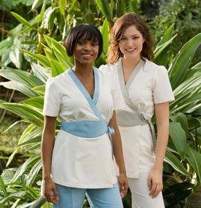1000 ideas about spa uniform on pinterest salon wear for Uniform for spa staff