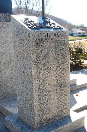 Monument to Union County Men who Served in the Civil War. Blairsville, GA