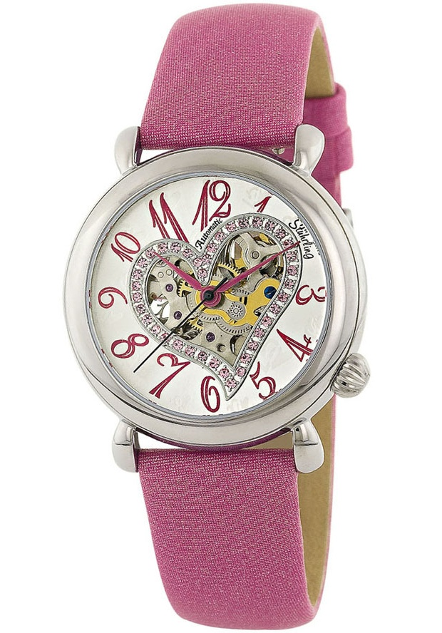 Stuhrling Original 109SW.1215A2, Offered in a sensational palette of cool fashion colors, this incarnation of the Aphrodite Delight is also the first ever to feature colorful, sparkling Swarovski crystals. The latest addition to the Romance Collection, this timepiece captures the very es