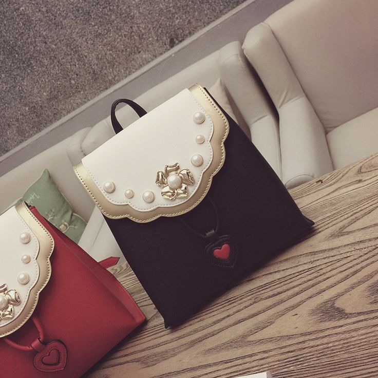 33.00$  Buy here - https://alitems.com/g/1e8d114494b01f4c715516525dc3e8/?i=5&ulp=https%3A%2F%2Fwww.aliexpress.com%2Fitem%2F2016-summer-new-fashionable-pearl-decoration-leisure-bags-color-all-match-female-college-wind-Backpack%2F32749598115.html - Women Backpack Sale Kpop 2016 Summer New Fashionable Pearl Decoration Leisure Bags Color All-match Female College Wind Backpack