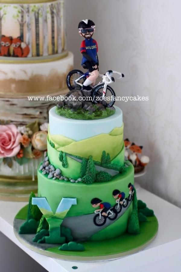 Bradley Wiggins birthday cake  Tour de Yorkshire by Zoe's Fancy Cakes