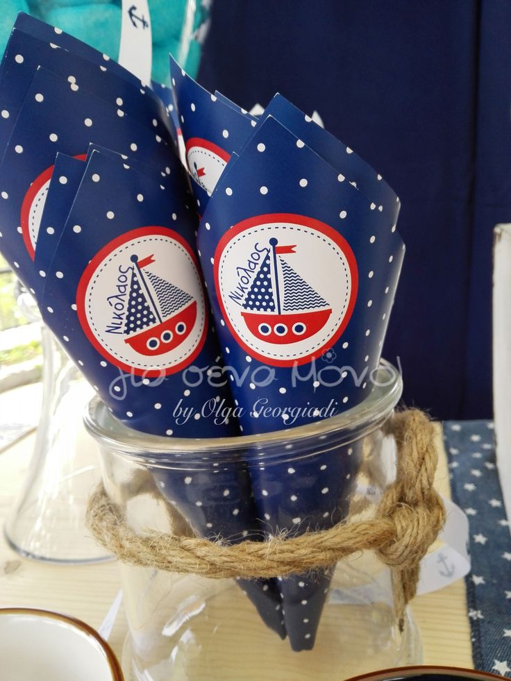Nautical Baptism. Blue navy. Christening Decoration. About a boy