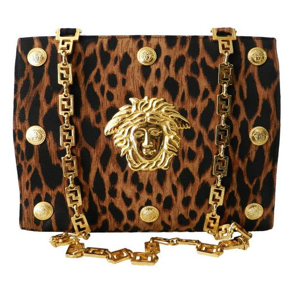 Gianni Versace - Gianni Versace Couture Iconic Leopard Medusa Purse found on Polyvore