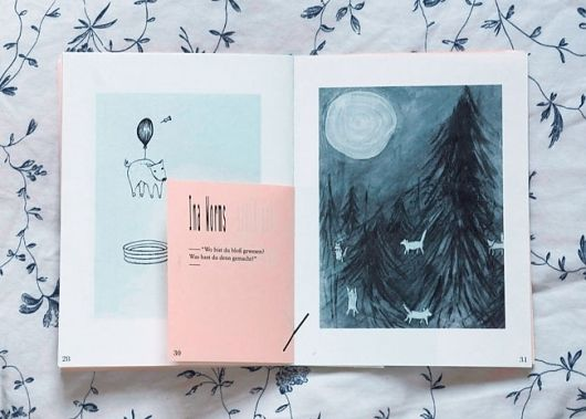 this is for if we want to keep it very minimal and clean - a drawing on one side and an illustration on the other with very minimal text - both with white frames keda!