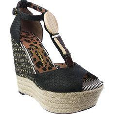 98.00 Jessica Simpson - Cyrille. Beautiful t-strap sandal on a chic platform and wedge heel.