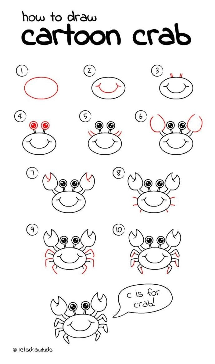 10 Cartoon Animal How To Drawings Easy Drawings For Kids Easy Drawings For Beginners Easy Pictures To Draw