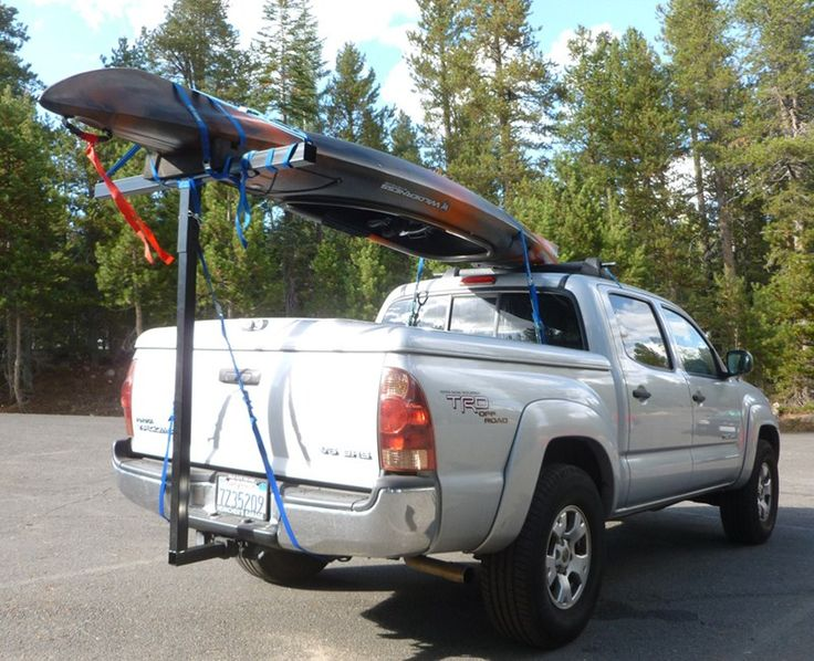 Darby Extend A Truck Kayak Carrier W/ Hitch Mounted Load Extender And Single