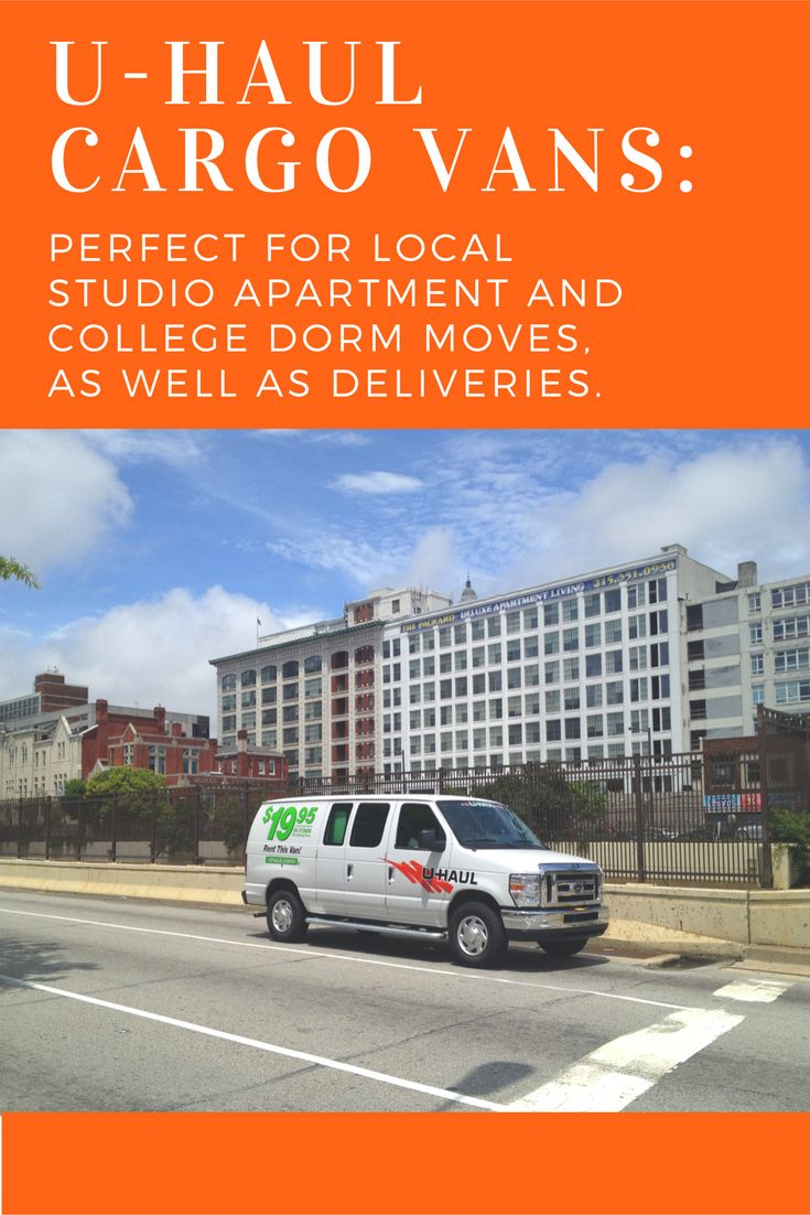 U-Haul cargo vans are ideal for your local college dorm or studio apartment move. A cargo van can fit up to a mattress, as well as your boxes and possibly some small furniture pieces. Reserve your own for your upcoming move!