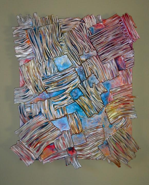"""Bronzestrips"" abstract art by Paul Mason"