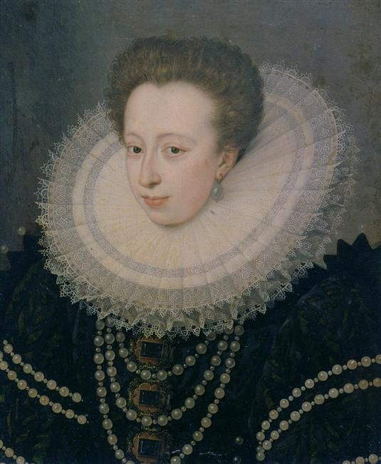 Identified on RMN as Christina of Lorraine, but it actually looks more like Claude de Valois, daughter of Catherine de Medici and Henri II, who married Charles, duke of Lorraine