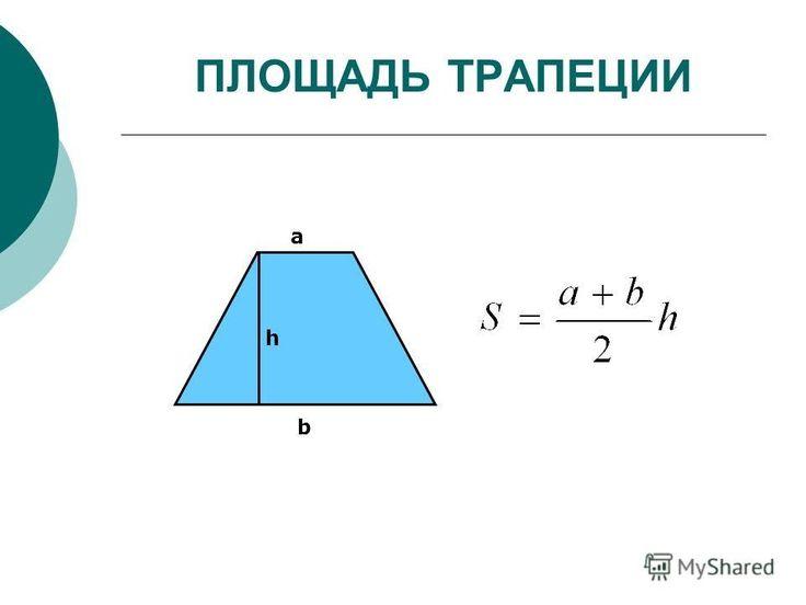 Площадь трапеции . Знания по математике