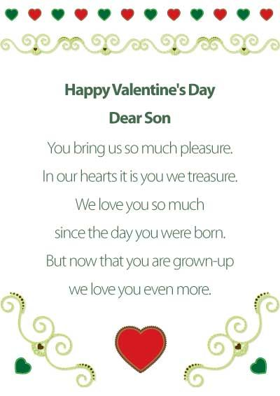 Printable Valentine's Cards - for son - my.free.printable.cards.com