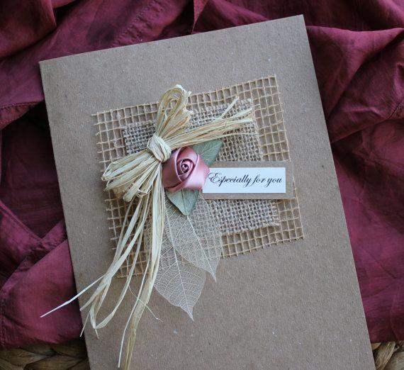 Shabby Chic Handmade Card Birthday Card Girlfriend by Thymerose