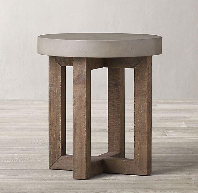 heston round side table simple