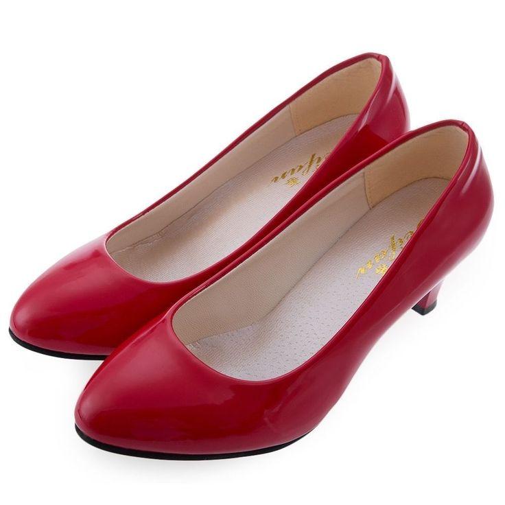 Women Ladies Low Mid High Kitten Heel Work Casual Smart Court Shoes Pumps Aus
