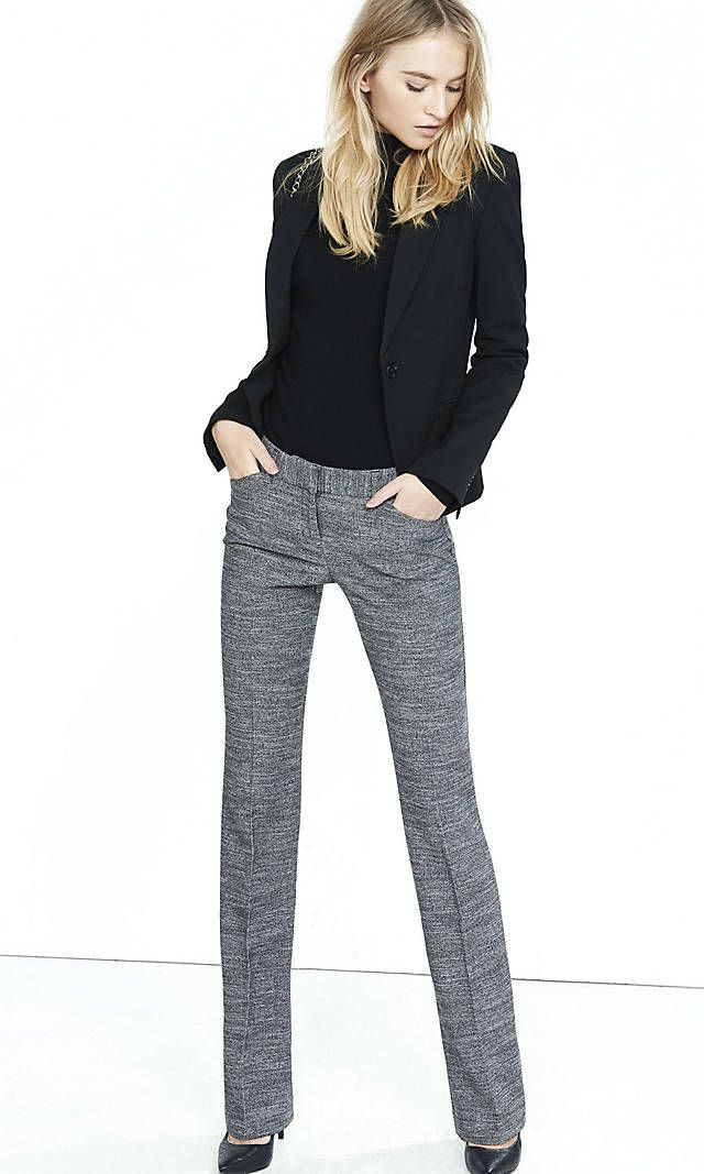 Tweed Barely Boot Editor Pant Polyester/Viscose/Elastane | Express