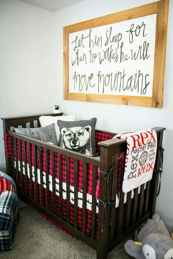 Red and black flannel for baby boy