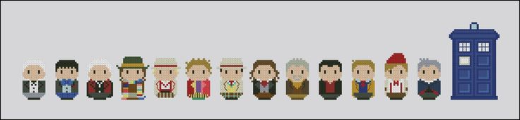 Doctor Who - The Doctors - Cross Stitch Patterns - CloudsFactory