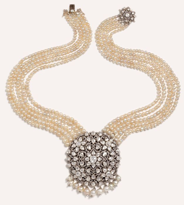 Pearl Jewellery Necklace >> Munnu.....Brilliant Diamonds accented & suspended by luxurious pearls | acc | Pinterest