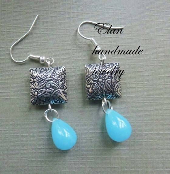 Shopo.in : Buy German Silver Blue Glass Bead Earring online at best price in Palakkad, India