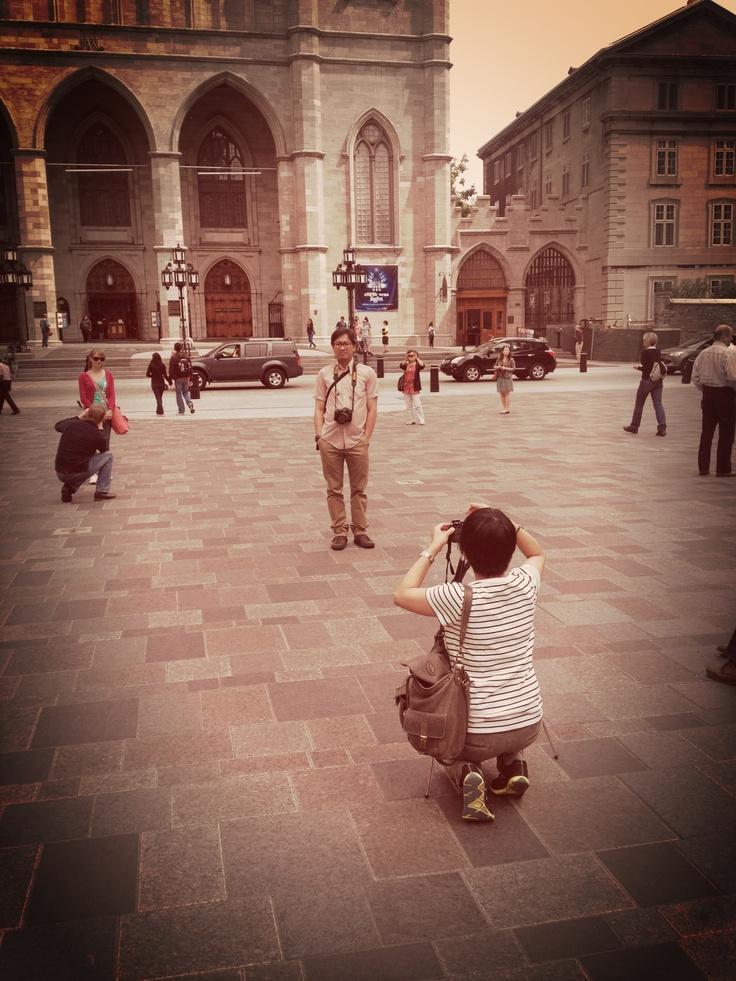 Nunca falta la foto del turista frente a la basílica.