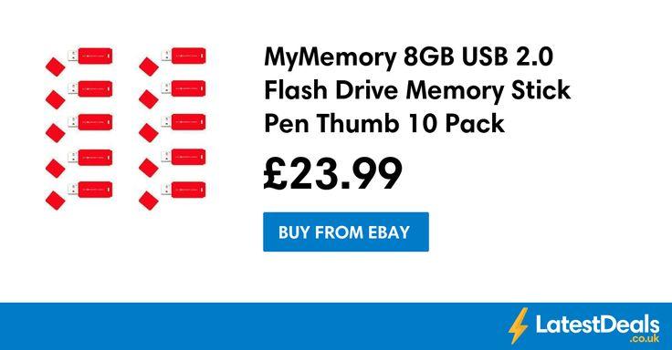MyMemory 8GB USB 2.0 Flash Drive Memory Stick Pen Thumb 10 Pack, £23.99 at ebay