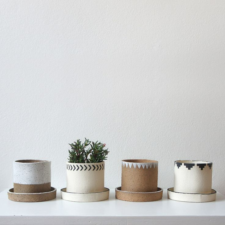 Mini ceramic planters by Jane Kelsey                                                                                                                                                                                 More