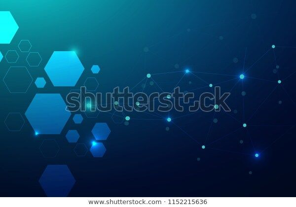 Abstract Connecting Dots Polygonal Background Technology Stock Vector (Royalty Free) 1152215636