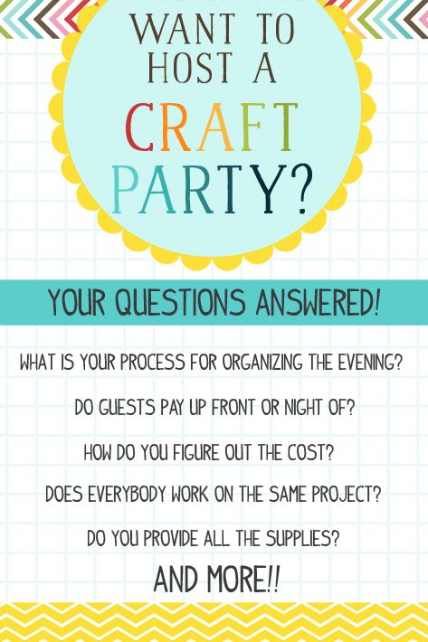 Hosting Your Own Craft Party Everything You Need To Know At